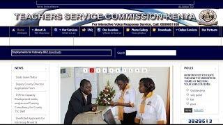 ICT4EKENYA TSC ONLINE SERVICES