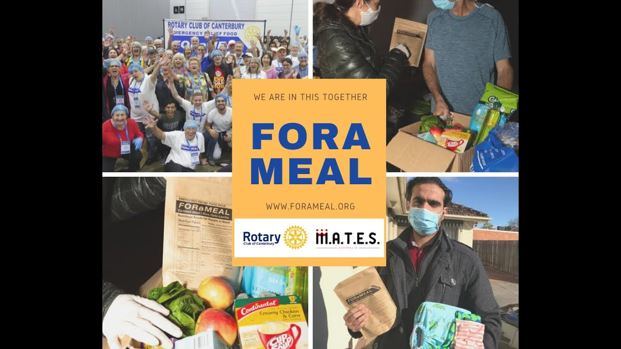 FORaMEAL help the most vulnerable in the Stage 4 COVID-19