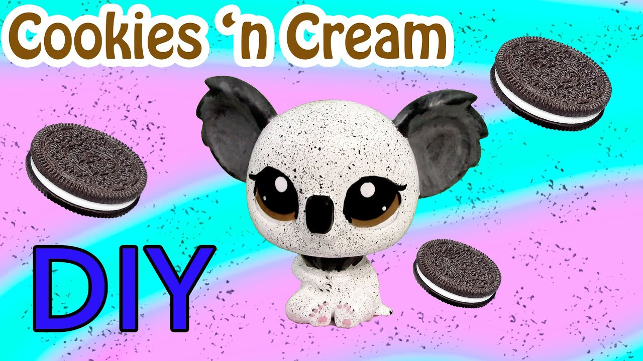custom lps koala oreo cookies and cream inspired diy littlest pet