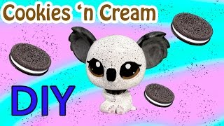 Custom LPS Koala Oreo Cookies And Cream Inspired DIY Littlest Pet Shop