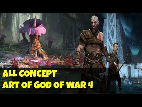 God of war 4- ALL CONCEPT ART!  All we have so far! Theories from these screenshots later