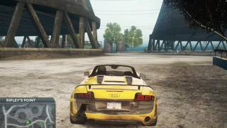 Taking out Most Wanted 9 with Audi R8 GT Spyder in NFS MW 2012