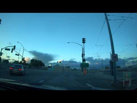 Time-lapse Drive: Friday, March 16, 2018 San Jose, Menlo Park, Sunnyvale, Mountain View