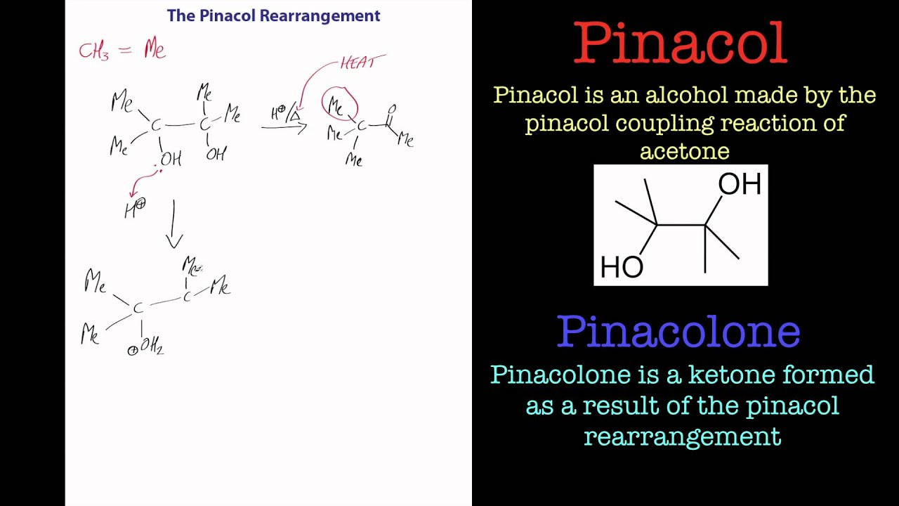 the pinacol rearrangement part 1  a chemistry tutorial