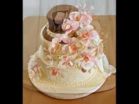 Hochzeitstorte Mit Orchideen Youtube