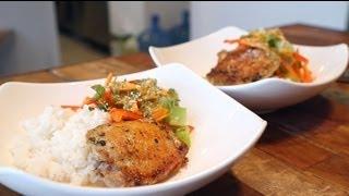 ♥黑咪喪女廚房 X Secret Ingredient ♥ Thai Lemon-pepper Chicken With Coconut Rice