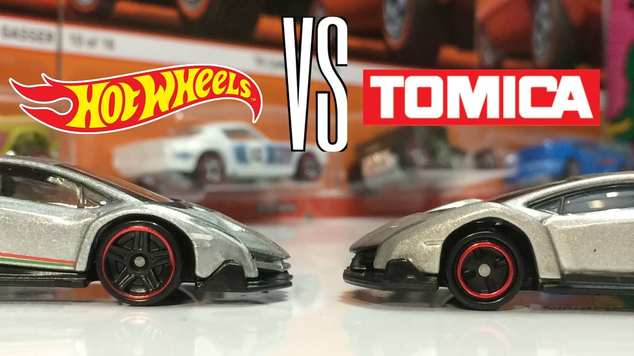 Hot Wheels Vs Tomica Lamborghini Veneno Comparison Youtube