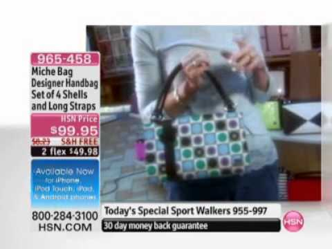 Miche Bag Designer Handbag Set Of 4 Shells And Long Straps At Hsn Com