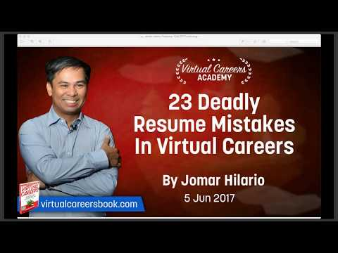 Virtual Assistant Resume: 23 Deadly Resume Mistakes In Virtual Careers