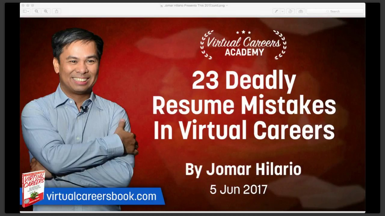 Virtual Assistant Resume: 23 Deadly Resume Mistakes In Virtual Careers  Virtual Resume