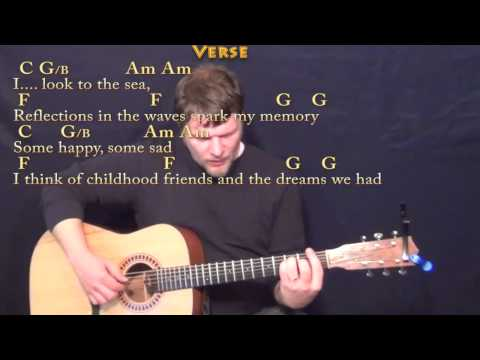 Come Sail Away (Styx) Fingerstyle Guitar Cover Lesson With Chords/Lyrics