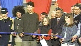 Feb. 3, 2001: Trudeau helps build cabin to reduce tragedies