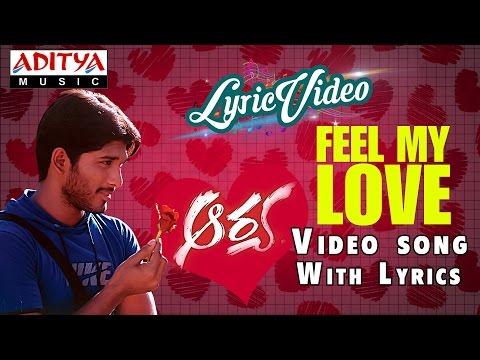Feel My Love Video Song With Lyrics II Aarya II Allu Arjun
