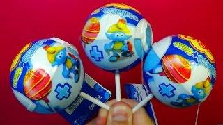Surprise eggs Chupa Chups The SMURFS Unboxing 3 eggs surprise mymillionTV