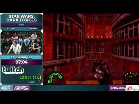 Star Wars: Dark Forces by psychoripper in 0:23:56 - SGDQ2016 - Part 45