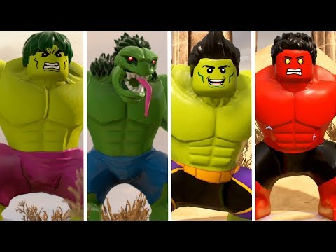Hulk(Transformation) Vs A Bomb(Transformation) Vs Red Hulk Lego ...