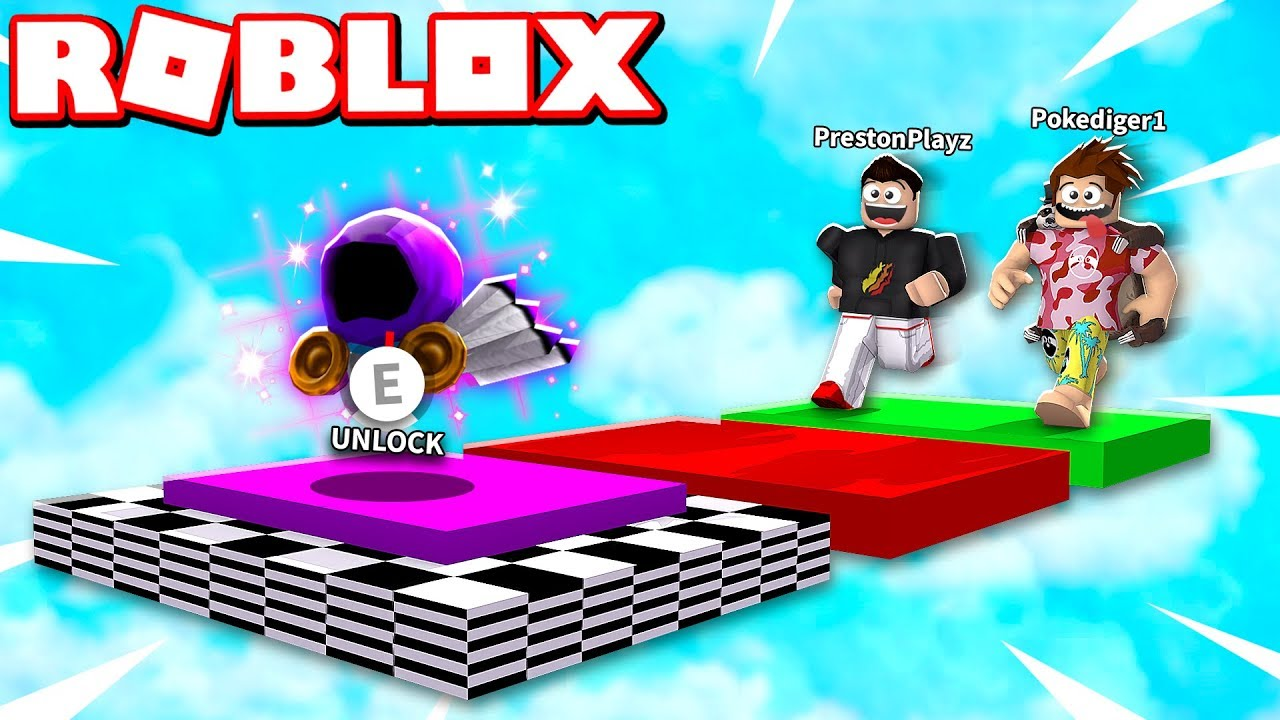 Roblox 1v1 Obby Race If Poke Wins He Gets His Dominus Youtube
