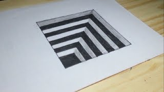 Very Easy How To Draw 3D Hole for Kids   3D Trick Art on paper
