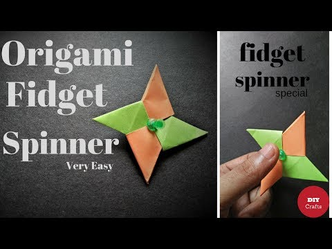 How To Make a Paper Fidget Spinner Without Bearings - DIY Origami Fidget Spinner - Fidget Spinner
