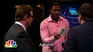 catchphrase with michael strahan and demi lovato late night with jimmy fallon