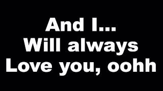 Whitney Houston - I Will Always Love You - Lyrics (Official Music Video) Tribute