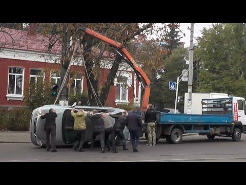 ДТП в Житомире: перевернулся Chevrolet Lacetti