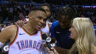 Russell Westbrook Postgame Interview - Mavericks vs Thunder | December 31, 2018 | 2018-19 NBA Season