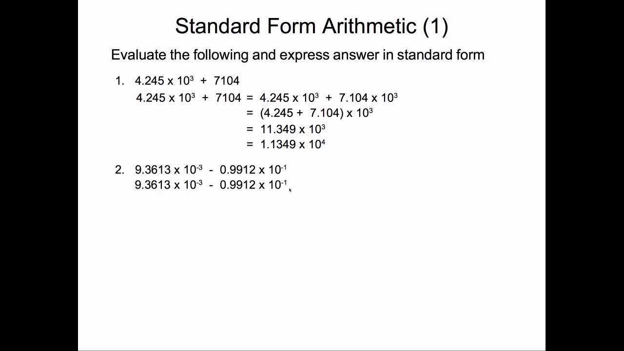 Standard form addition and subtraction youtube standard form addition and subtraction falaconquin