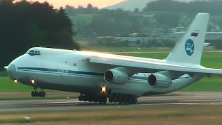 LOW TAKEOFF! Russian Federation Air Force Antonov An-124 [RA-82038] departure at Zurich Airport