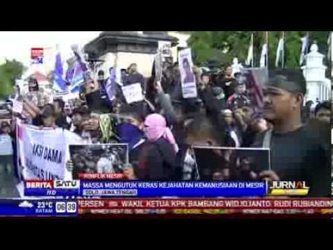 Ribuan Massa Demo Solidaritas untuk Mesir