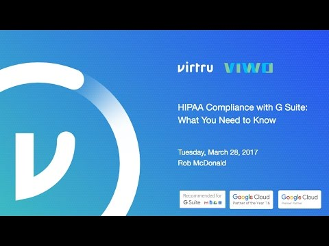 Webinar: HIPAA Compliance with G Suite