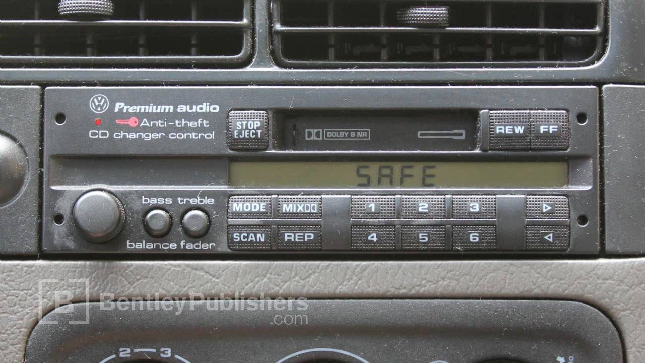 medium resolution of vw or audi how to enter a radio code radio display reads safe diy repair youtube