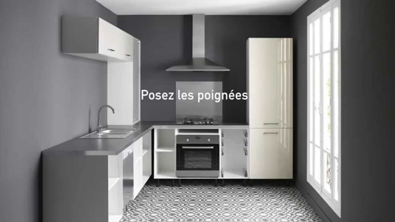 montage d 39 une cuisine en 6 tapes conforama youtube. Black Bedroom Furniture Sets. Home Design Ideas