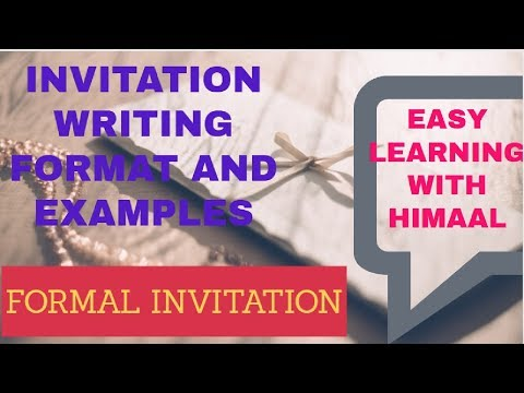 FORMAL INVITATION WRITING (printed And Letter Invitation) // EASY LEARNING WITH HIMAAL