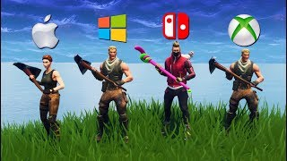 Playing Fortnite on 4 Different Consoles at Once