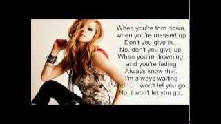 Won't Let You Go-Avril Lavigne (Karaoke) with backing vocals