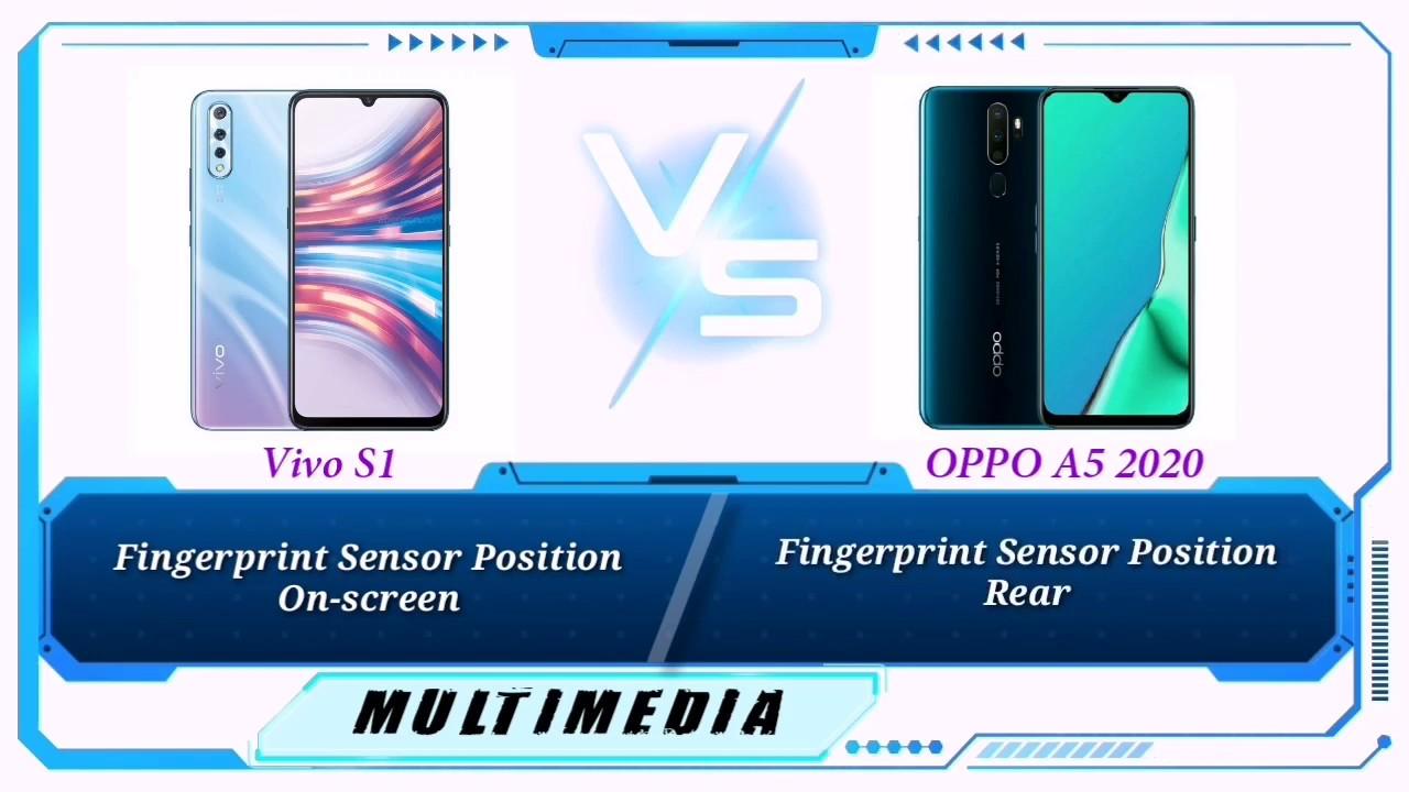 Harga dan perbandingan oppo a9 2020 dan vivo z1 pro, hp kelas menengah mulai. VIVO S1 VS OPPO A5 2020 Specs Comparison - YouTube