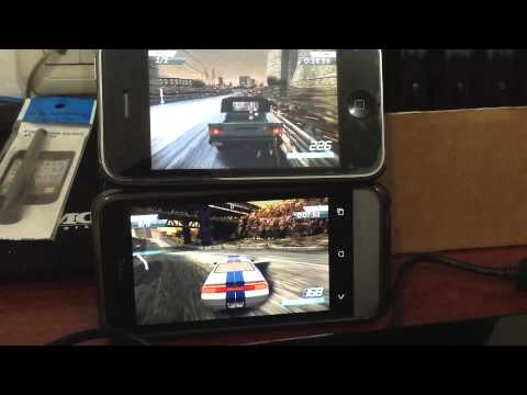 iPhone 3GS vs HTC One V: Playing Need for Speed Most Wanted