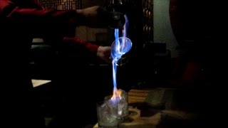Amazing Bar Trick- Flaming Liquor Pour From Hand To Hand At The Secrets Vine- Cancun