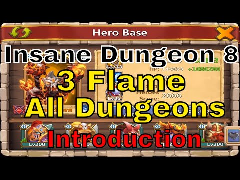 Castle Clash Insane Dungeon 8 Series: 3 Flaming All Dungeons Introduction