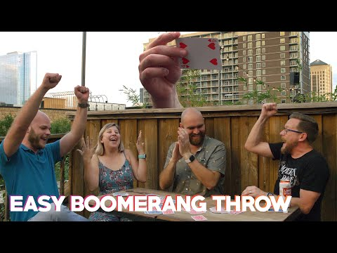 Simplest Boomerang Card Throw! (w/ Alan Paoletti)