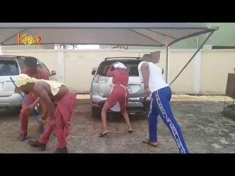 Watch Toyin Abraham Mr shaggi and Frank Donga On Set {Nigerian Entertainment}