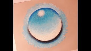 Basic Oil Pastel TIMELAPSE : Water Droplet : Rule of 3's Example