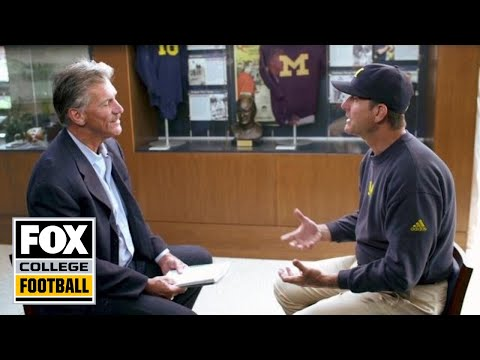 Jim Harbaugh sits down with Dave Wannstedt - CFB on FOX 2015 - Extended Cut