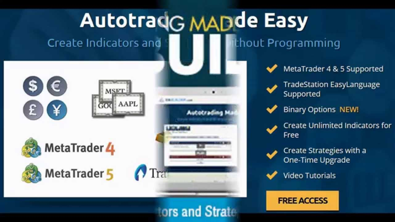 Forex Robots - How To Use Metatrader 4 Expert Advisor Builder - Forex Robots - YouTube