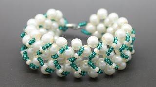 Как сплести браслет из бусин и бисера своими руками DIY Bracelet from beads