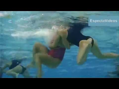 Oops   Women's Waterpolo Dirty play ! What happens underwater  Try not to see next !