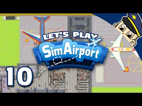 SimAirport Let's Play - Ep. 10 - Let's Try Building a Cafe! - Sim Airport Gameplay