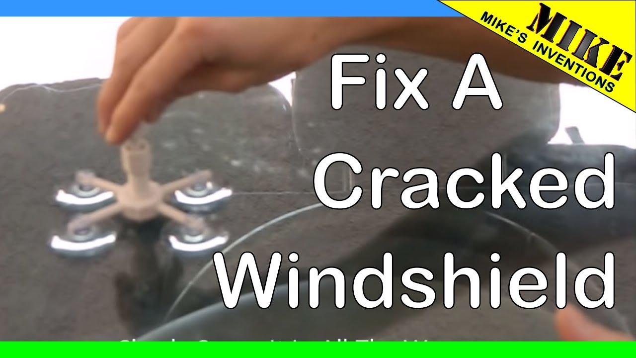 how to repair a cracked windshield with rain x repair kit. Black Bedroom Furniture Sets. Home Design Ideas