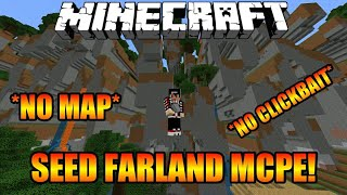 WOW!! SEED KOTA FARLAND DI MCPE!! *NO CLICKBAIT!! *NO MAP!! - Mcpe Seed Indonesia